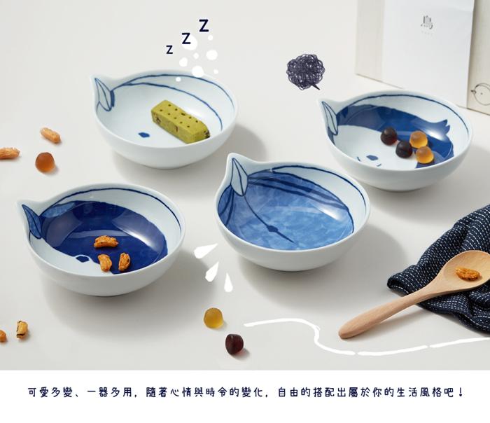 石丸波佐見燒|tori 小鳥湯碟禮盒(4件組)