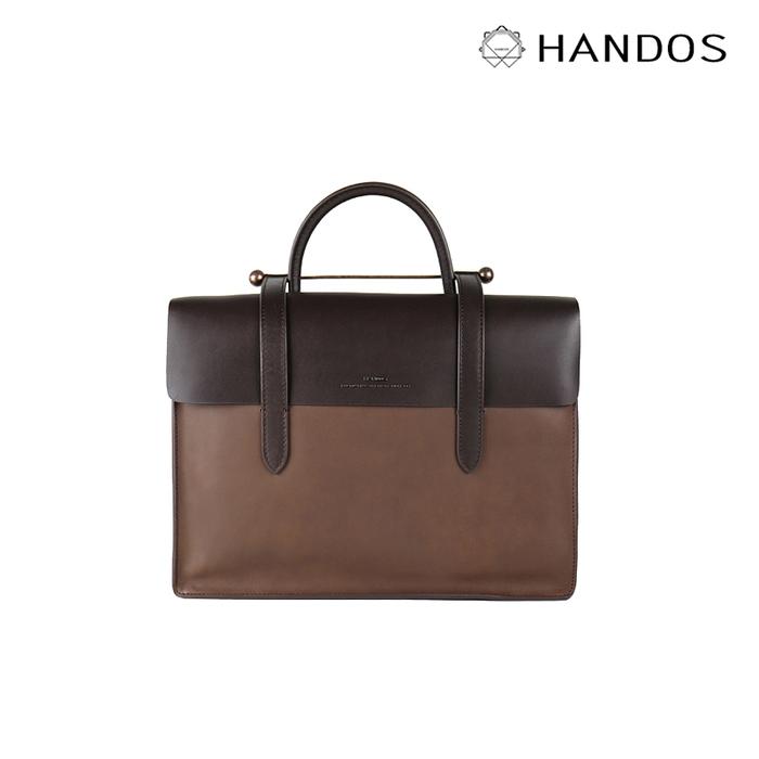 HANDOS|Musician 皮革音譜手提包 - 摩卡