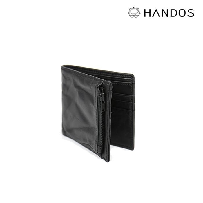 (複製)HANDOS|Double Line拉鍊短夾 -  灰