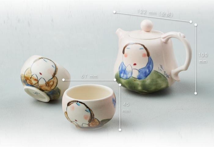 (複製)吳仲宗|胖太太系列 - 葫蘆壺 - 藕粉 (黛藍衣)