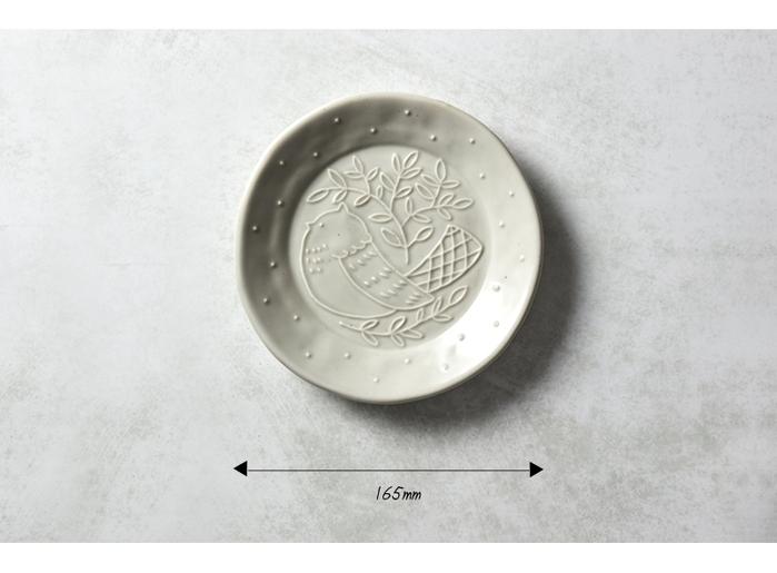 (複製)石丸波佐見燒 森之歌圓鳥盤 - 櫻粉