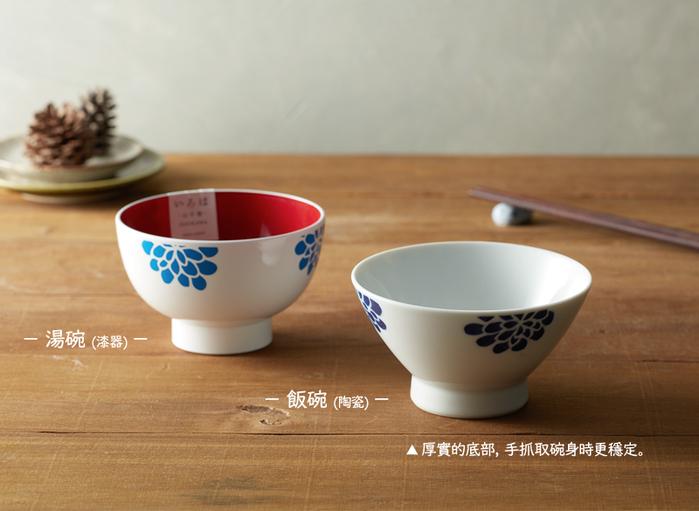 (複製)石丸波佐見燒 藍繪小草 - 漆器碗禮盒 (2件組)
