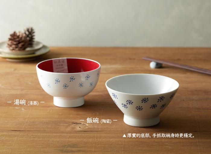 (複製)石丸波佐見燒|藍繪小花 - 漆器碗禮盒 (2件組)