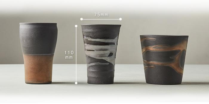(複製)日本美濃燒|金銀流暢飲陶杯組 (2件式)