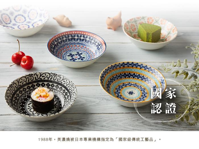 (複製)日本美濃燒|心花朵朵麵包盤組 (5件式)
