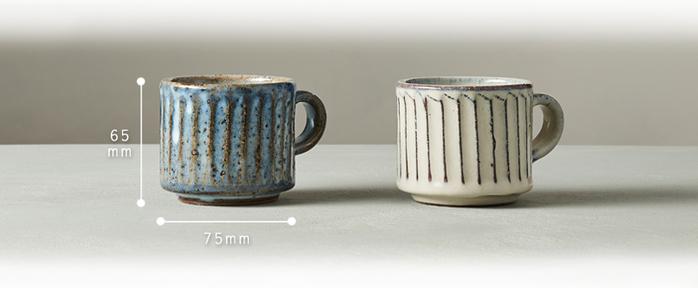 (複製)丸伊信樂燒|青萩雕紋咖啡杯碟組(2件式)