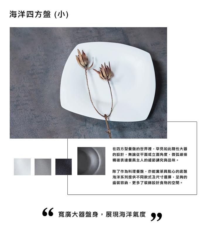 (複製)3,co│海洋長方盤(中) - 灰