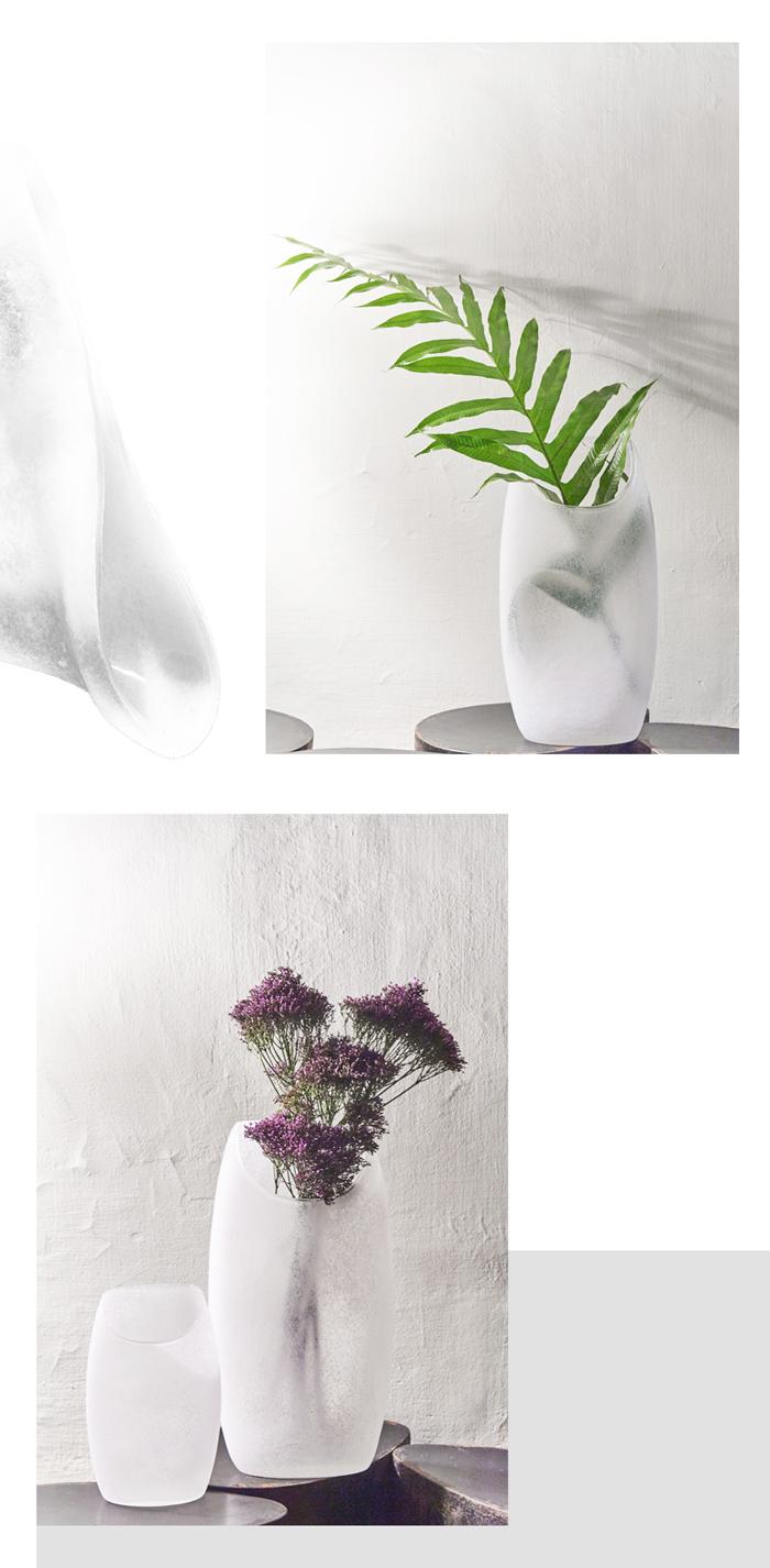 (複製)3,co|玻璃月型口扁平花器(8號) - 藍