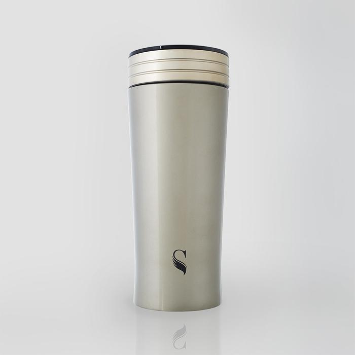 (複製)SWANZ|陶瓷風格保溫杯(2色)- 300ml (日本專利/品質保證) - 白底綠線