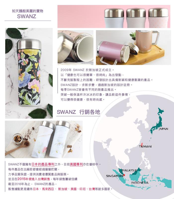 SWANZ 火炬陶瓷保溫杯(2色)- 400ml-雙件優惠組(國際品牌/品質保證)