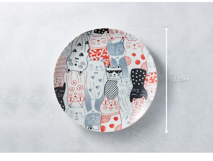 (複製)日本AWASAKA美濃燒|酷花貓餐盤 - 藍