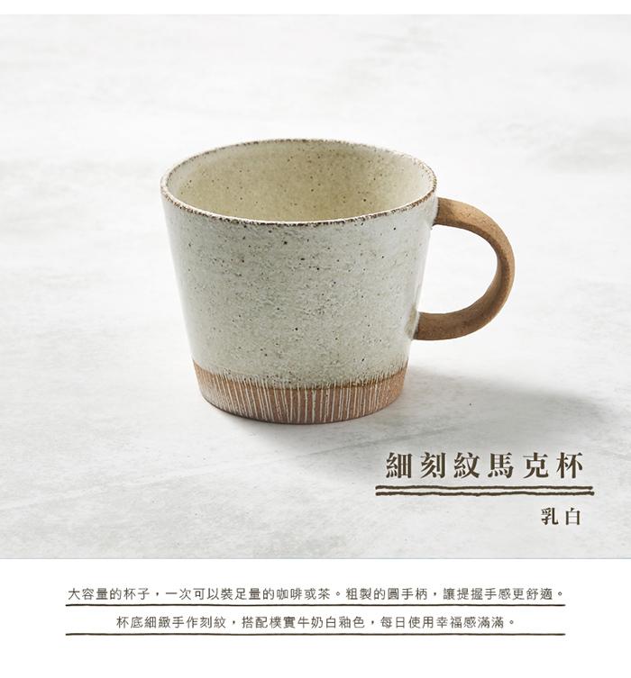 (複製)日本KOYO美濃燒 細刻紋馬克杯 - 天藍