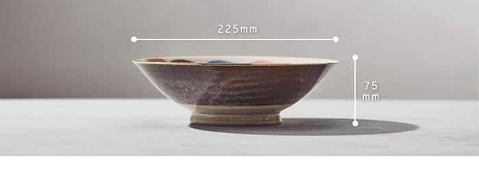 (複製)日本AWASAKA美濃燒|筆青釉繪深盤 - 粉點打