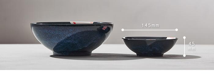 日本AWASAKA美濃燒|彩鯉釉染小碗成雙組