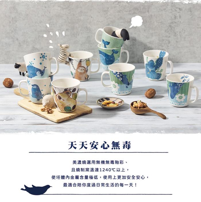 (複製)日本澤藍美濃燒|仲良貓友馬克對杯組(2件式)