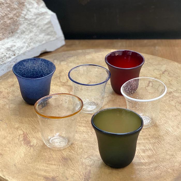 (複製)3,co|手工彩色玻璃杯(小) - 藍