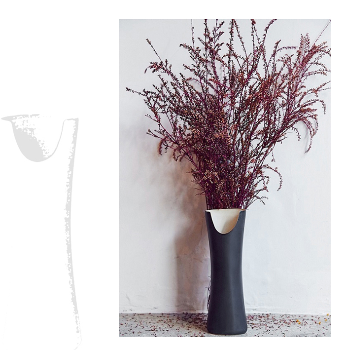 (複製)3,co│管狀花器 E - 日本黑(原色內層)