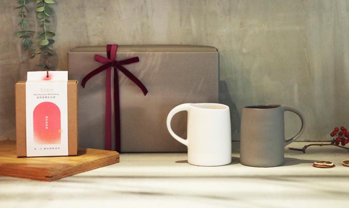 3,co│水波馬克杯(2件式)-(白+灰) - 掌生穀粒|茶包禮盒組