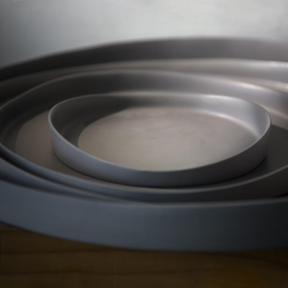 3,co│水波系列圓形托盤(2號) - 灰