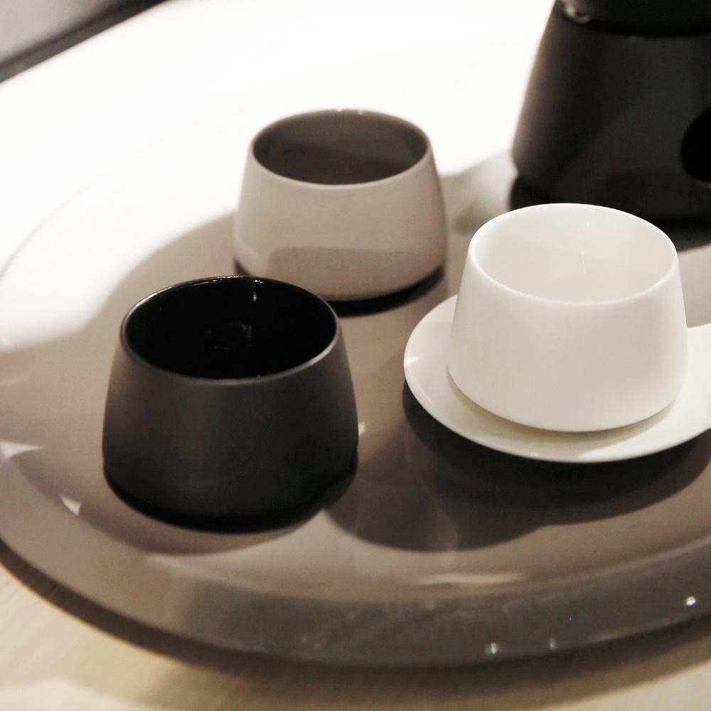 3,co│水波提樑小杯(2件組) - 白