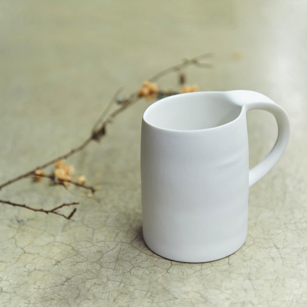 3,co│水波馬克杯 - 白