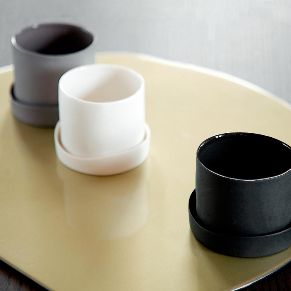 3,co│水波蓋杯(2件式) - 黑