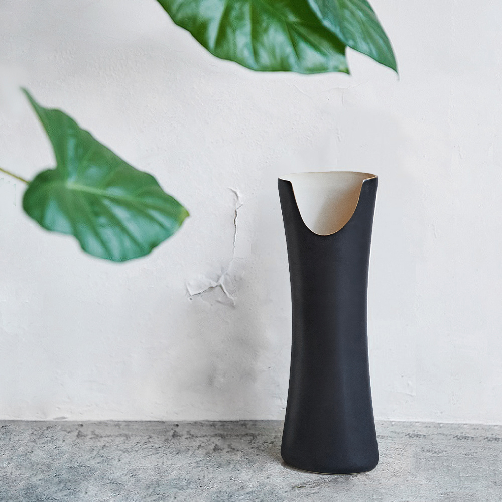 3,co│管狀花器 E - 日本黑(原色內層)