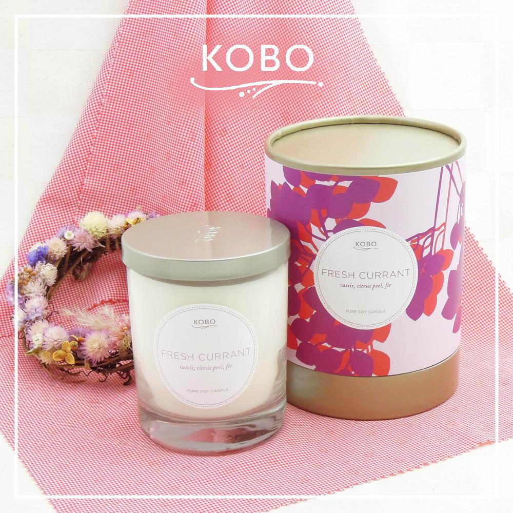 KOBO │美國大豆精油蠟燭 - 清新醋葡萄 (330g/可燃燒80hr)