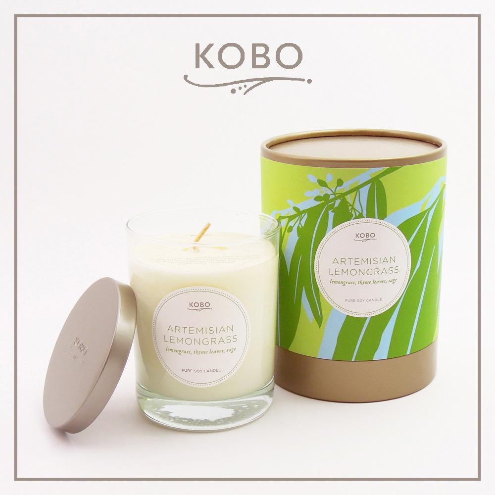 KOBO │美國大豆精油蠟燭 - 檸檬草神話 (330g/可燃燒80hr)