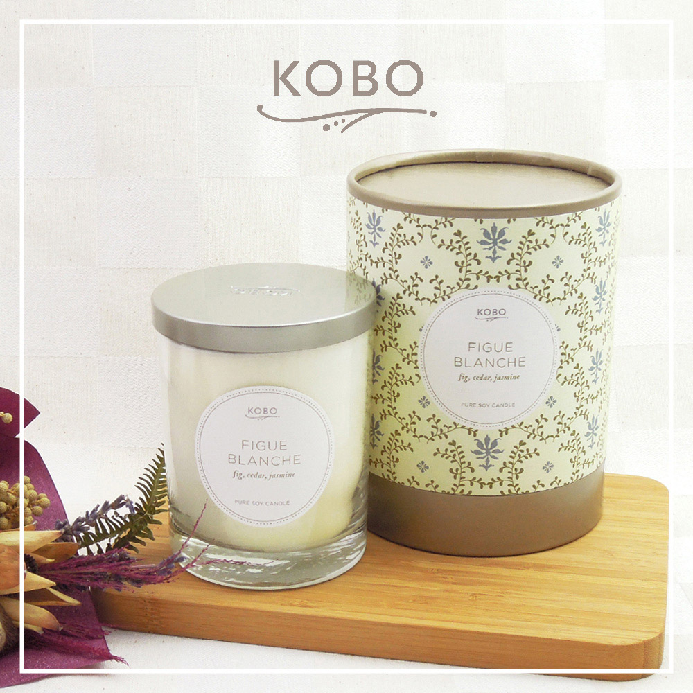 KOBO│美國大豆精油蠟燭 - 純淨無花果 (330g/可燃燒80hr)