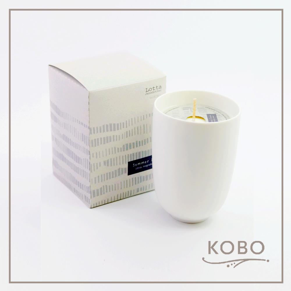 KOBO │美國大豆精油蠟燭 - 夏日亞麻(330g/可燃燒70hr)