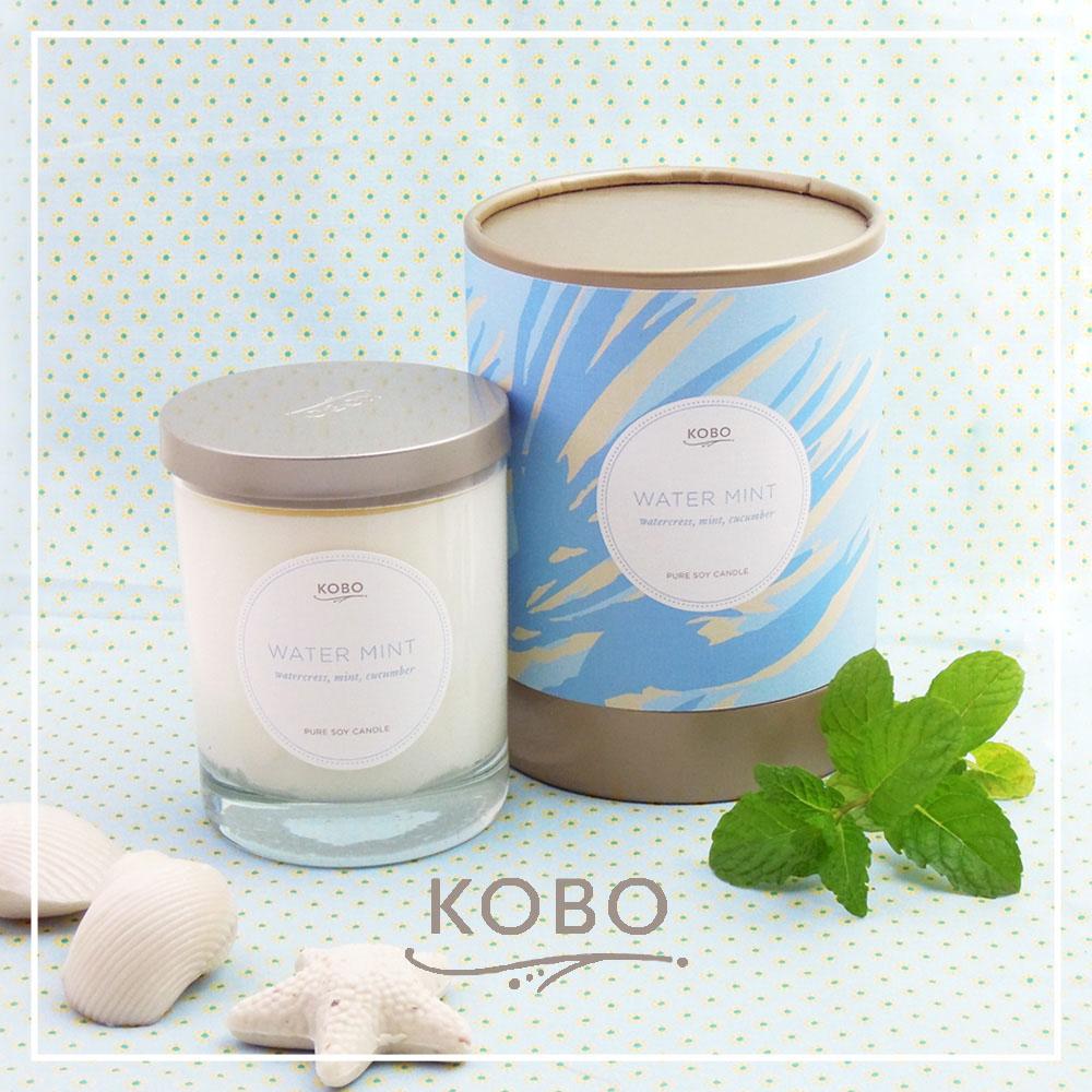 KOBO │美國大豆精油蠟燭 - 冰涼薄荷 (330g/可燃燒80hr)
