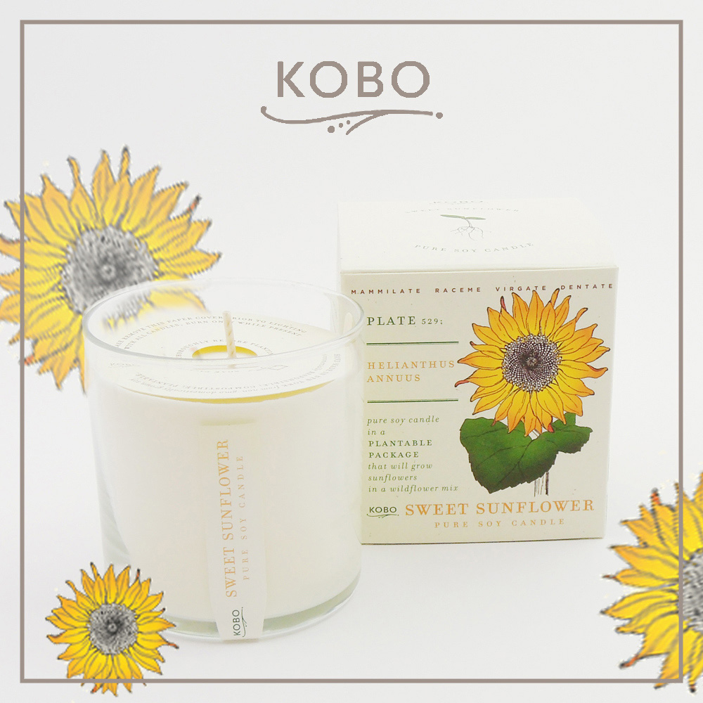 KOBO │美國大豆精油蠟燭 - 甜心向日葵 (280g/可燃燒60hr)