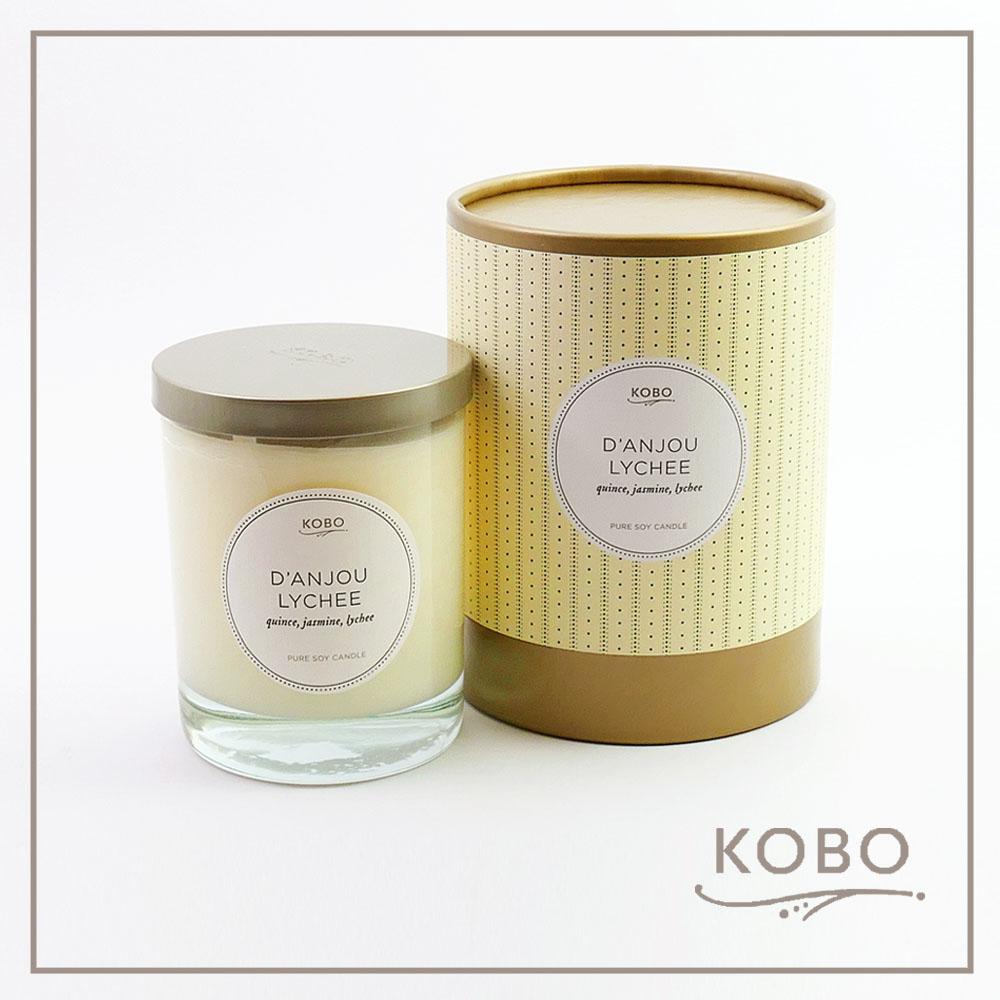 KOBO │美國大豆精油蠟燭 - 梨與荔枝 (330g/可燃燒80hr)