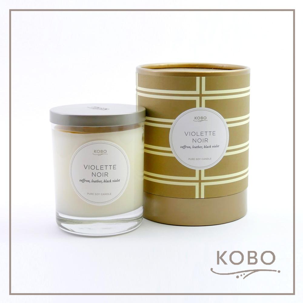 KOBO │美國大豆精油蠟燭 - 神秘的紫羅蘭(330g/可燃燒80hr)