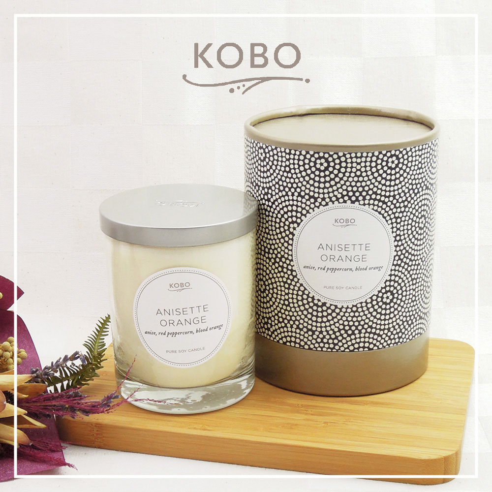 KOBO │美國大豆精油蠟燭 - 茴香柑 (330g/可燃燒80hr)