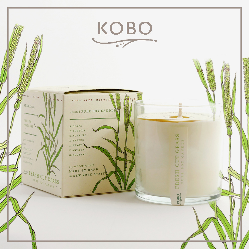 KOBO │ 美國大豆精油蠟燭 - 清新牧草 (280g/可燃燒60hr)