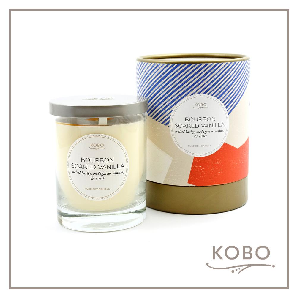 KOBO │ 美國大豆精油蠟燭 - 香草威士忌 (330g/可燃燒80hr)