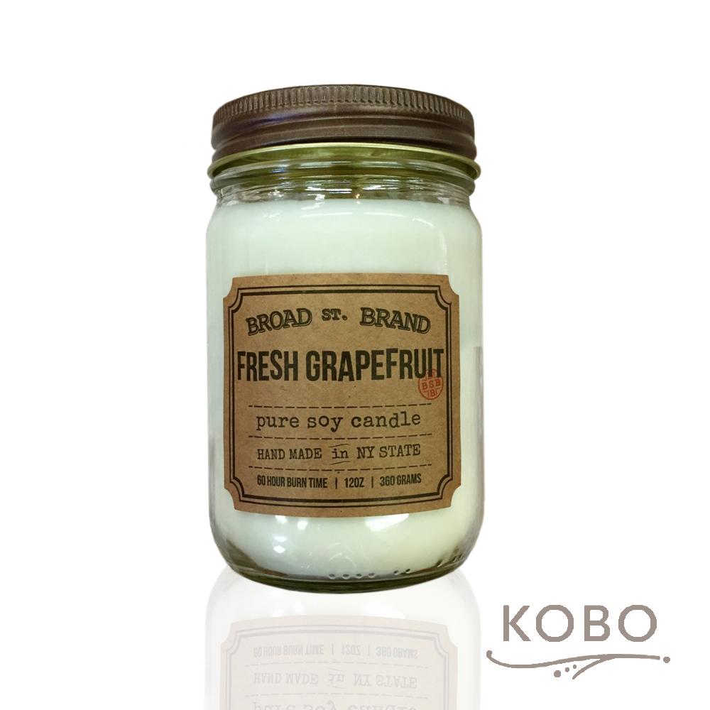 KOBO 美國大豆精油蠟燭 - 新鮮西柚 (360g/可燃燒60hr)