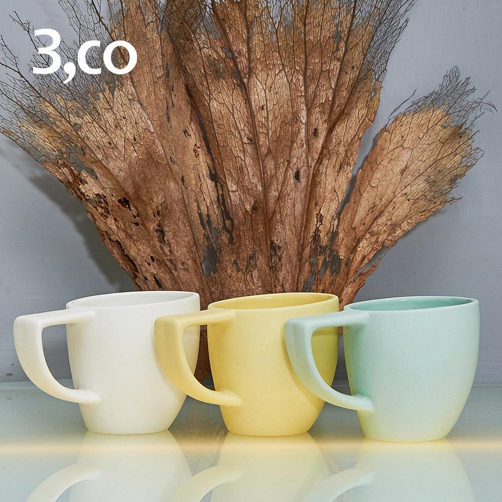 3,co│海洋斜月濃縮杯(三色組) - 白+黃+綠