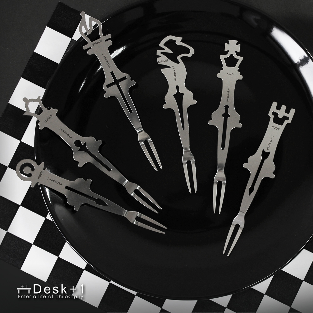 Desk+1|西洋棋水果叉-六入組