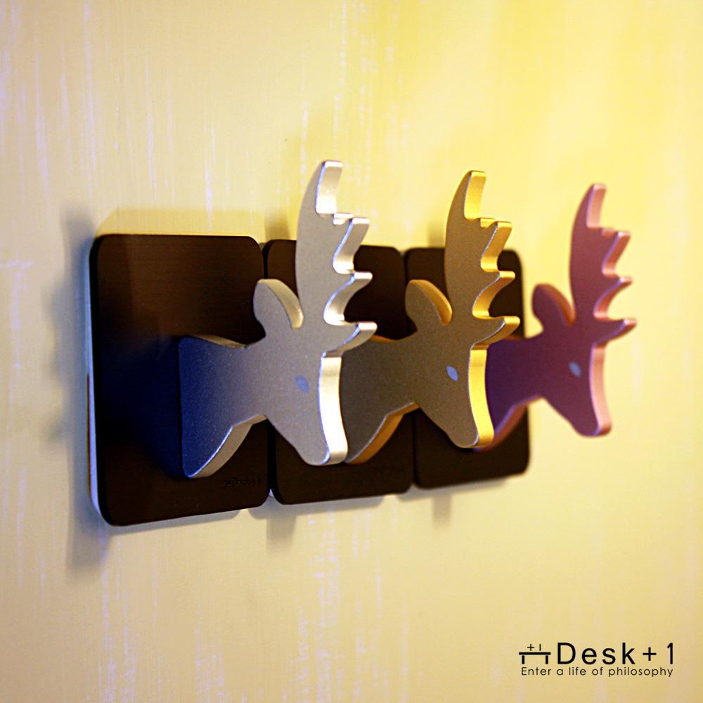 Desk+1|麋鹿掛勾 -三入組