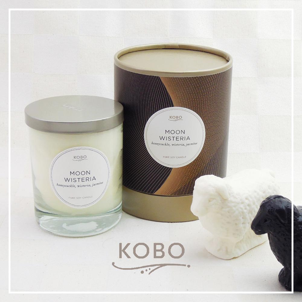 KOBO|美國大豆精油蠟燭 - 月紫藤 (330g/可燃燒80hr)