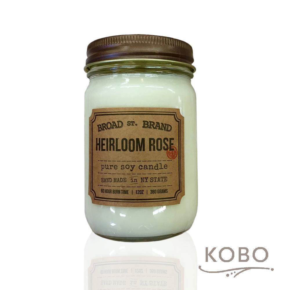 KOBO|美國大豆精油蠟燭 - 傳家玫瑰 (360g/可燃燒60hr)