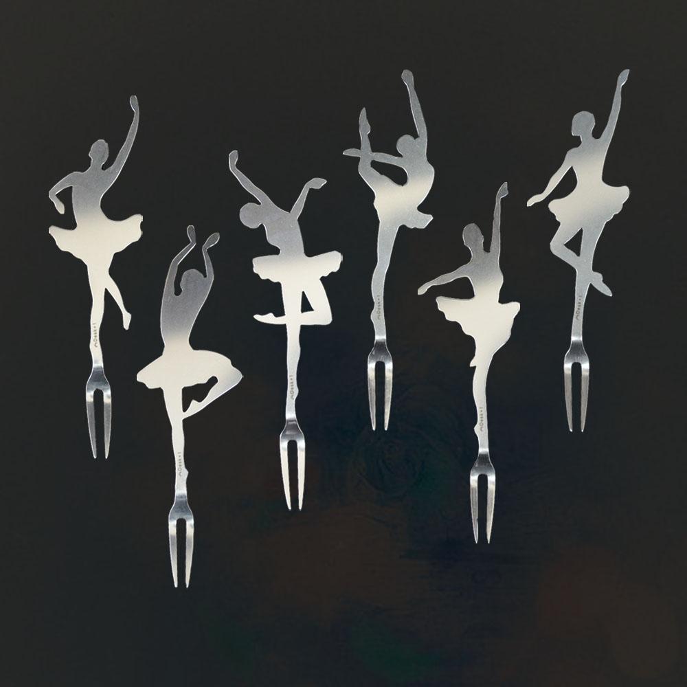 Desk+1|芭蕾名伶水果叉-六入組