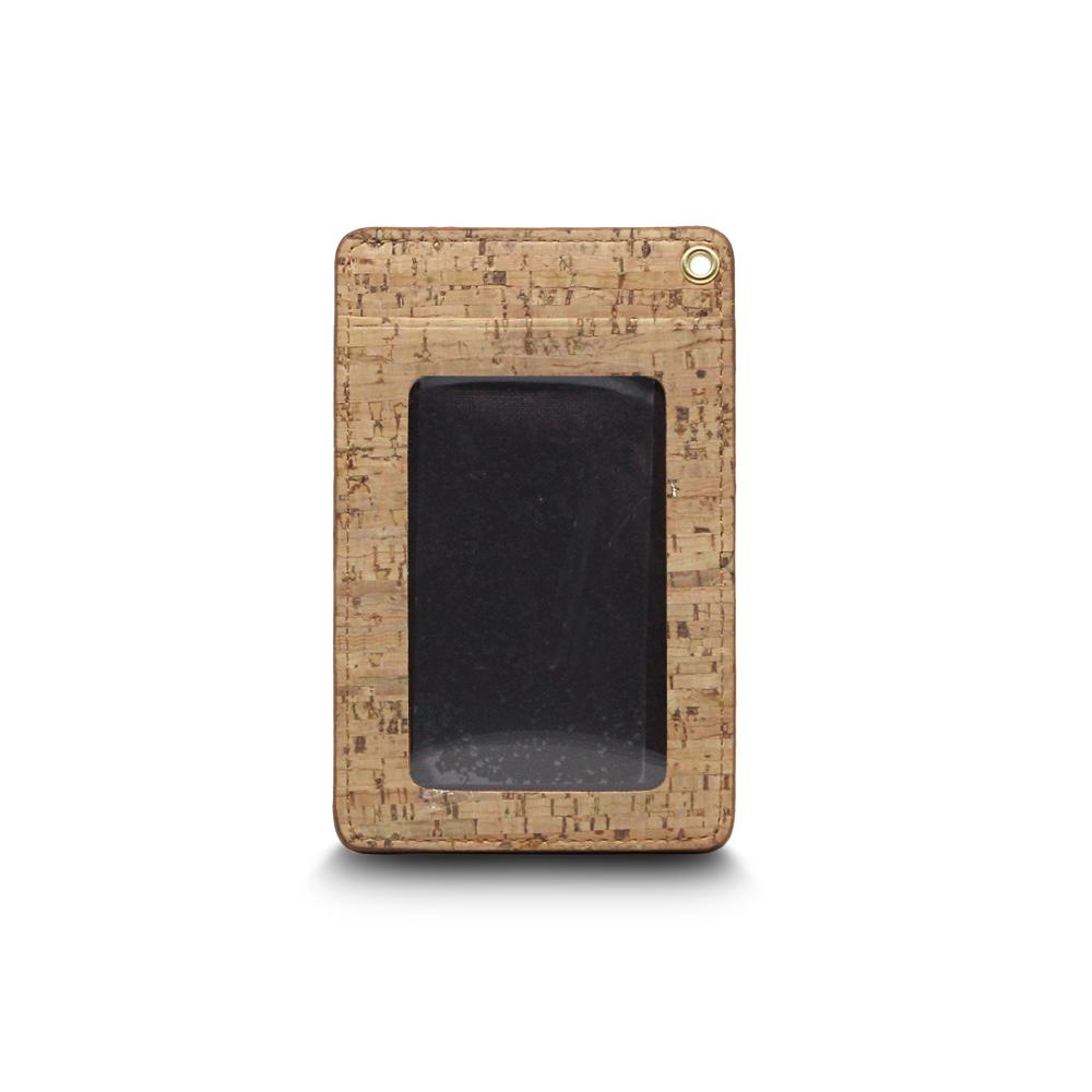 CORCO|直式軟木證件套 - 原棕色 (含掛繩)