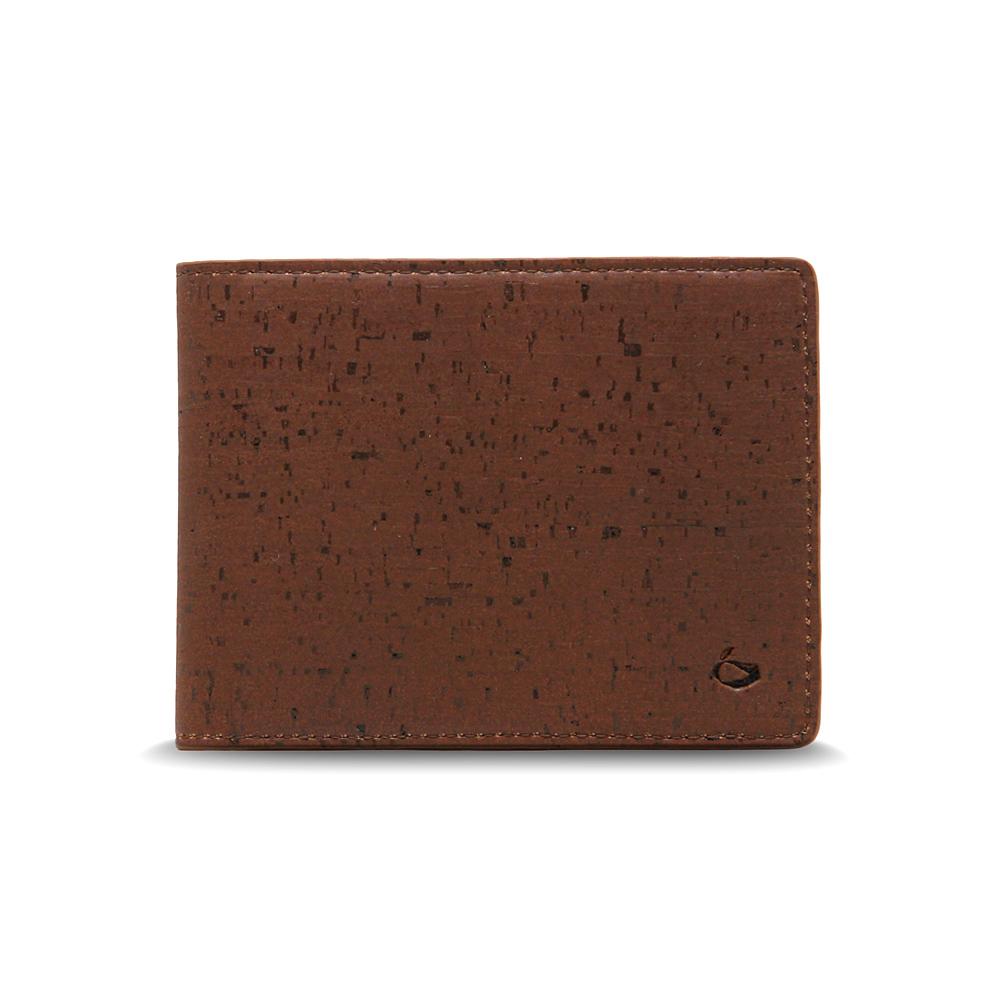 CORCO|簡約軟木短夾 - 酷深棕