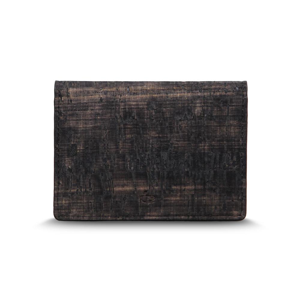 CORCO|雙摺軟木名片夾 - 復古黑