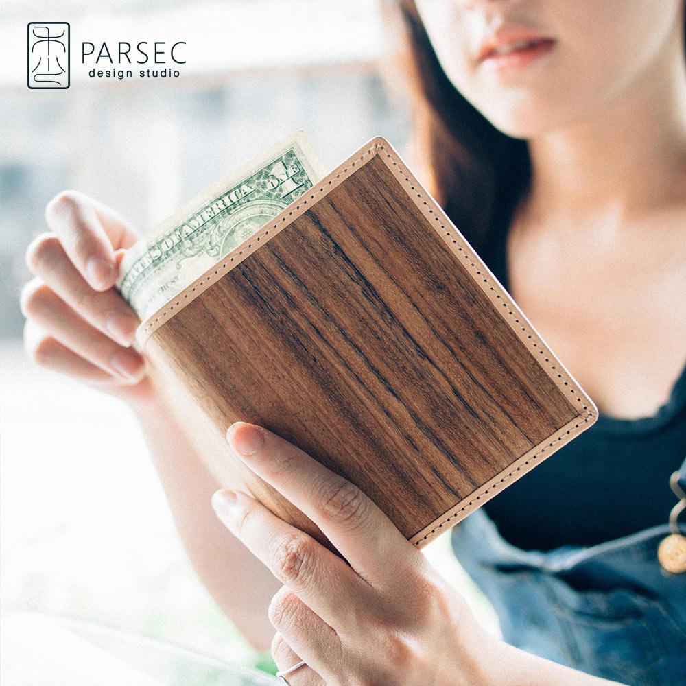 PARSEC|樹革柚木短夾