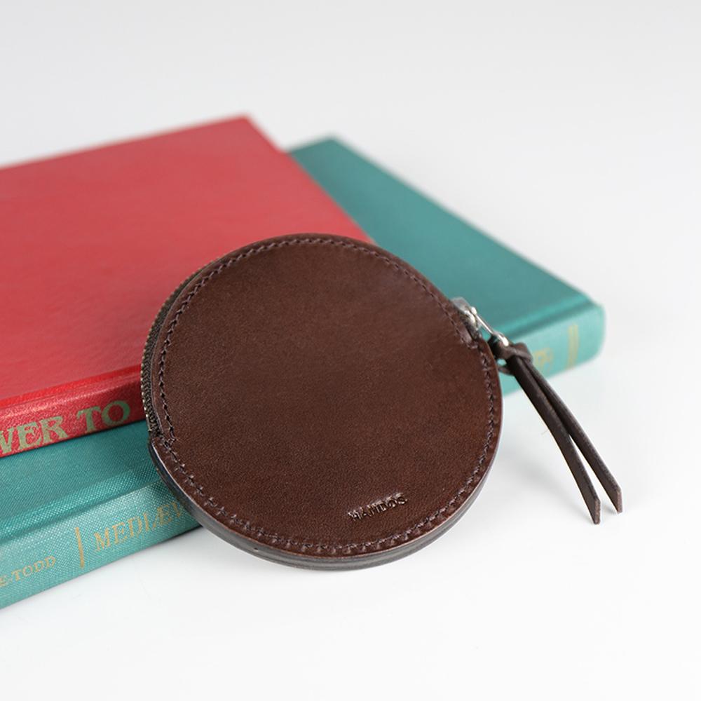 HANDOS|復古質樸感圓形零錢包 - A